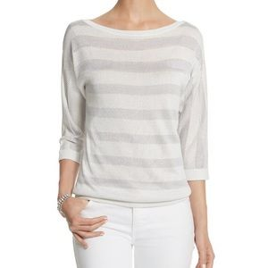 WHBM 3/4 sleeve sweater